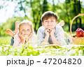 子供 少年 女の子の写真 47204820