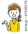 ベクター 女性 笑顔のイラスト 47206276