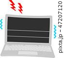 壊れたノートパソコン 47207120
