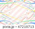 テープ 紙吹雪 ストライプ背景 47210713