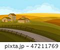 道 村 集落のイラスト 47211769