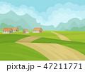 道 村 集落のイラスト 47211771