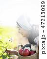 女性 若い女性 花の写真 47213099