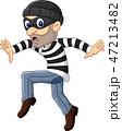 強盗 空き巣 慎重にのイラスト 47213482