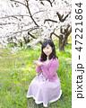 女性 女の子 花の写真 47221864