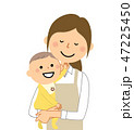 主婦 ベクター 赤ちゃんのイラスト 47225450