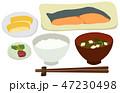 白バック ベクター 日本料理のイラスト 47230498