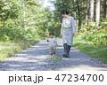 散歩 親子 子供の写真 47234700