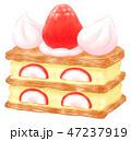 ケーキ スイーツ 洋菓子のイラスト 47237919