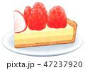 ケーキ 洋菓子 お菓子のイラスト 47237920
