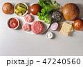 ハンバーガー 具 材料の写真 47240560