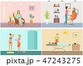 メイクアップ 化粧 お化粧のイラスト 47243275