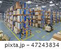 フォークリフト 倉庫 流通のイラスト 47243834