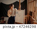 画伯 芸術家 アーティストの写真 47246298