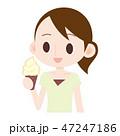 ソフトクリーム アイス アイスクリームのイラスト 47247186