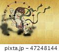 雷神 和 金色のイラスト 47248144
