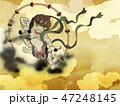 雷神 和 金色のイラスト 47248145