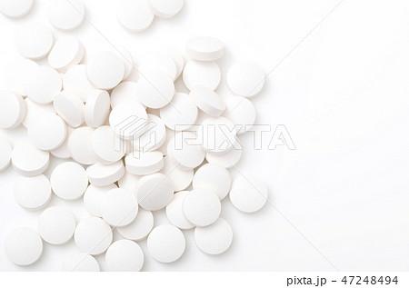 白い錠剤(サプリメント) 47248494