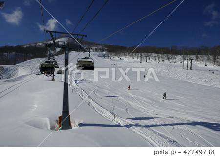 斑尾高原スキー場のジャイアントコース下部 47249738