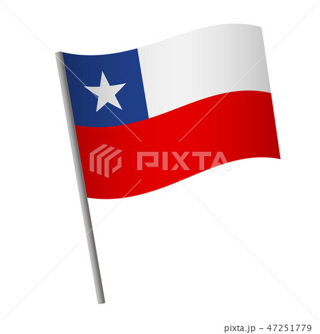 Chile flag icon. 47251779