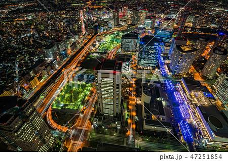 (神奈川県)横浜・みなとみらい・横浜駅方向 夜景 47251854