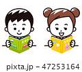絵本を読む子供 47253164