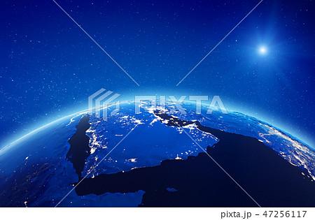 Middle East, Saudi Arabia city lights 47256117