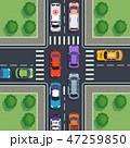車 自動車 街路のイラスト 47259850