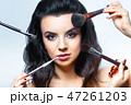 美しい ブラシ 化粧の写真 47261203