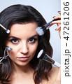 化粧 顔 面の写真 47261206