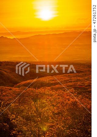 那須高原の朝日(栃木県、那須高原展望台) 47261752