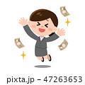 お金 稼ぐ ベクターのイラスト 47263653