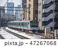 電車 雪 列車の写真 47267068