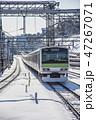 電車 積雪 山手線の写真 47267071