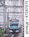列車 電車 雪の写真 47267075