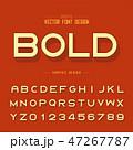 アルファベット レター 文字のイラスト 47267787