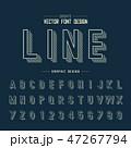 アルファベット レター 文字のイラスト 47267794