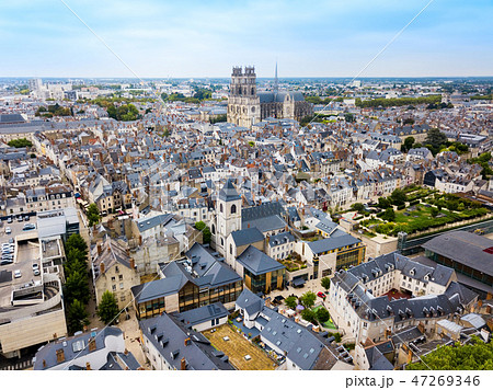 Orleans aerial panoramic view, France 47269346