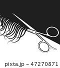 髪 毛 ヘアのイラスト 47270871