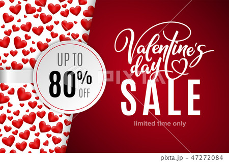Valentine's day holiday sale 80 percent off 47272084