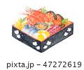 正月 おせち おせち料理のイラスト 47272619