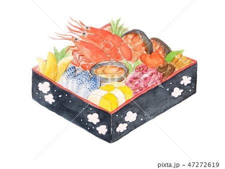 おせち お節 おせち料理 水彩 正月 伝統料理 47272619