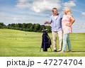 GOLF ゴルフ 老人の写真 47274704