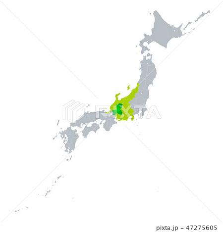 岐阜県地図 47275605