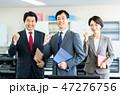 ビジネスマン ビジネス ビジネスウーマンの写真 47276756