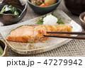 鮭 焼き鮭 焼き魚の写真 47279942