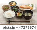 和食の朝食イメージ 47279974
