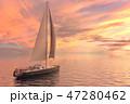 船 帆 航海のイラスト 47280462