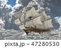 セイルボート 帆かけ舟 帆掛け船のイラスト 47280530
