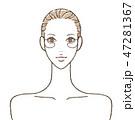 女性 スキンケア 白バックのイラスト 47281367